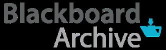 Blackboard Archive logo